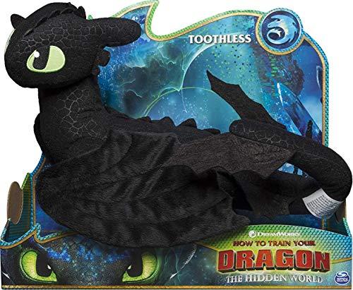 Dragons Ohnezahn Drache | DreamWorks 36 cm Deluxe Plüsch Figur | Toothless
