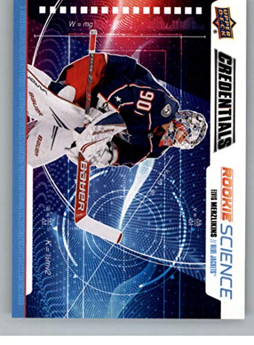 2019-20 Upper Deck Credentials Rookie Science Hockey #RS-18 Elvis Merzlikins Columbus Blue Jackets Official NHL Trading Card From The UD Company