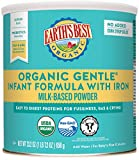 Earth's Best Organic Gentle Infant Powder Formula with Iron, Easy To Digest Proteins, 23.2 oz