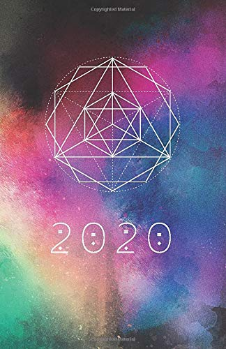 2020: Sacred Geometry Planner   For Men & Women   Galaxy Artwork Design    Agenda Book   Universe Creation Art Cover  with journal pages