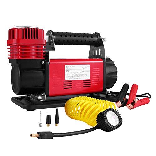 BuoQua Pompa Portatile Compressore Aria Heavy Duty 12V Robusto Pompa D'aria Compressore...