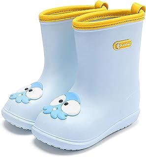 Nasogetch Kids Wellies Boys Girls Wellington Boots Rain Boots Lightweight Waterproof Blue