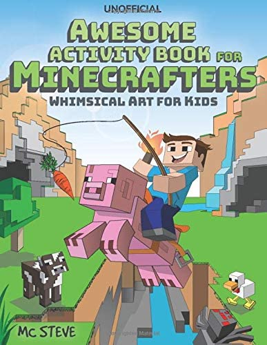 Minecraft Activity Book Awesome Activity Book for Minecrafters Coloring Puzzles Dot To Dot Word product image