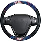 LIZIMANDU Car Steering Wheel Cover,Steering Covers with Pattern Anti-Slip Wheel Protector for Women,Lady,Universal 15 inch(1-Star Night)