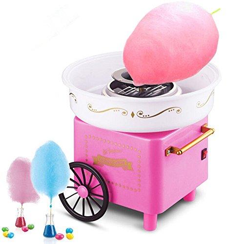 Turefans Máquina de algodón de azúcar, Mini, 500W, Estilo Retro,Rosa