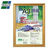 ナカバヤシ 樹脂製軽量額縁 金ケシ A3判(JIS規格) フ-KWP-40/NN