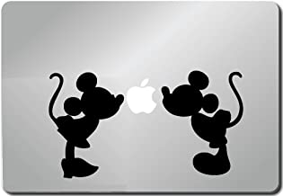 MICKEY MINNIE SILHOUETTE KISSING Apple Macbook Ipad Laptop Vinyl Decal Sticker Skin Cover computer sticker computer decal decal mac decal for mac laptop sticker laptop decal newest version macbook pro laptop quotes
