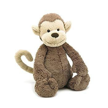 Jellycat Bashful Monkey Stuffed Animal Medium 12 inches