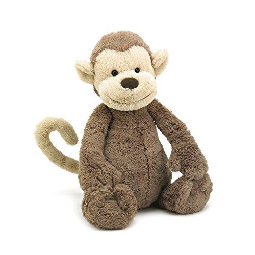 Jellycat(ジェリーキャット) バシュフル モンキー M ぬいぐるみ サル 座高20cm ブラウン