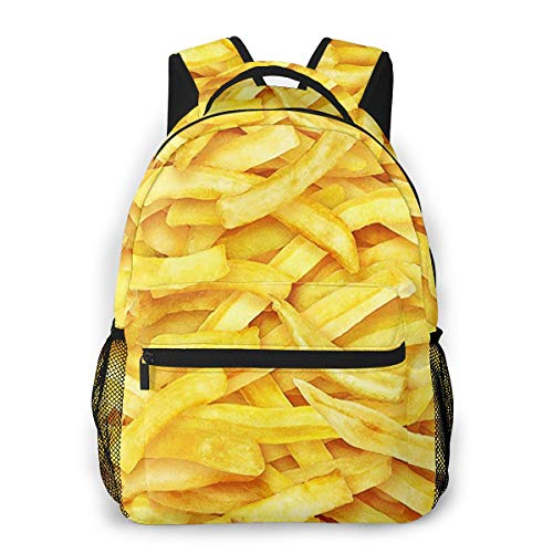 Rucksack Freizeit Und Ausflüge Damen Herren Mädchen, Campus Kinderrucksack, Daypack Tagesrucksack Für Schule, Sportrucksack, Tablet Tasche Chip Shop Chips