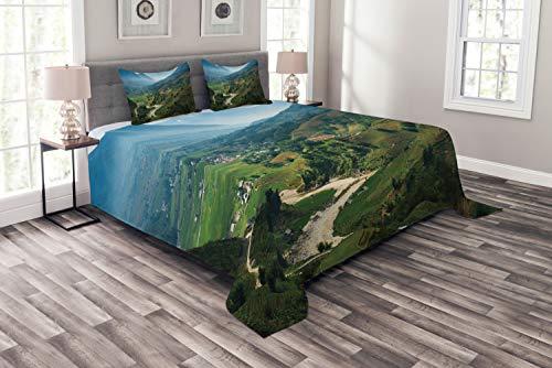 ABAKUHAUS Viêt-Nam Couvre-Lit, Rice Field Terrasses Tavan, pour Le Salon, 264 x 220 cm, Multicolore