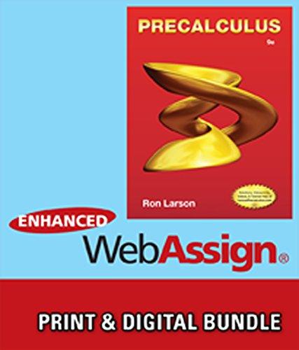 Bundle: Precalculus, 9th + WebAssign Printed Access Card for Larson's Precalculus, 9th Edition, Single-Term