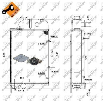 NRF 52138 Radiador refrigeración del motor