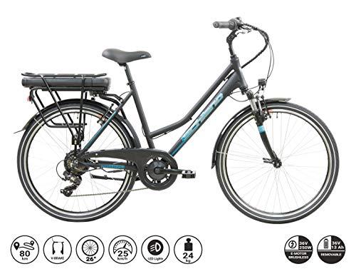 F.lli Schiano E- Light 2.0, Bicicletta elettrica Women's, Nera,...