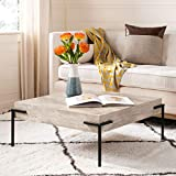 Safavieh Home Eli Rustic Light Grey and Black Square Coffee Table
