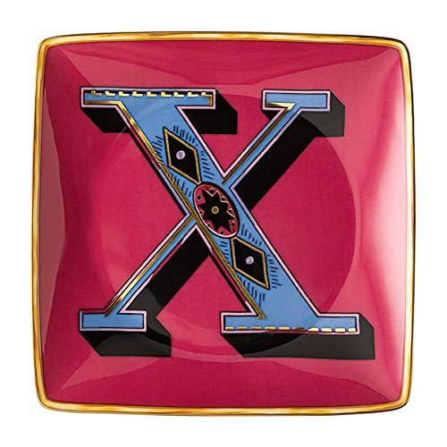 Versace by Rosenthal - Schale, Teller, Schälchen - Holiday Alphabet - X - 12 x 12 cm - Porzellan