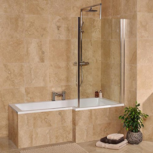 Reviews of Bath Shower Tub L Shaped 1500 Small Corner White Acrylic ...