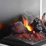 GLOW FIRE Beethoven Elektrokamin Opti Myst 3D Wasserdampf Feuer Opti-myst Cassette 400, elektrischer Raumteiler Standkamin mit Fernbedienung | Regelbarer Flammeneffekt, 60 cm, Weiß - 4