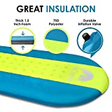 Self Inflating Sleeping Pad – Sleeping Pad - Lightweight Sleeping Pad - Mat for Camping Hiking Backpacking - Premium Insulated Sleeping Mattress for Outdoors - Comfortable Pad for Men and Women