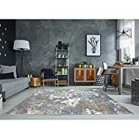 Persian Rugs 6490 Turquoise 5 x 7 Abstract Modern Area Rug
