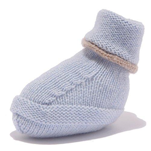 M. FERRARI 7814W scarpine Lana Bimbo Light Blue Wool Newborn Shoe Unisex [One Size]