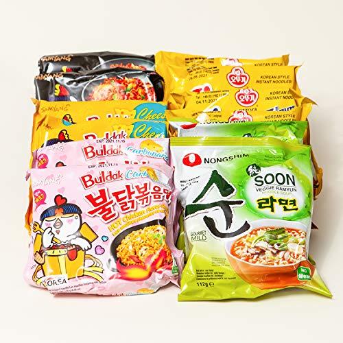 Koreanische 12er Ramen Suppe Box | Kennenlernbox mit 12 Koreanische Instantnudeln