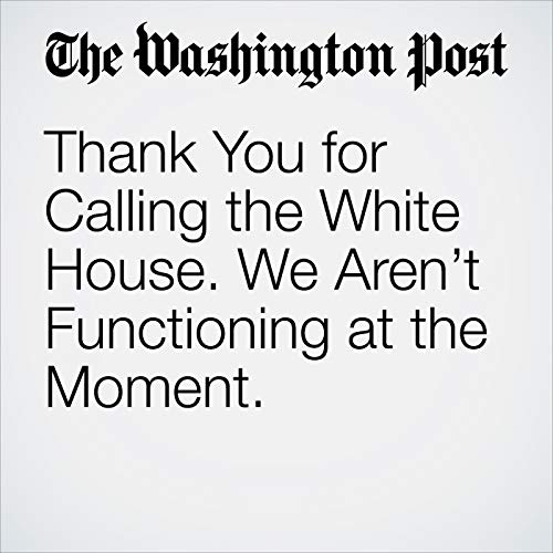 Thank You for Calling the White House. We Aren't Functioning at the Moment. audiobook cover art