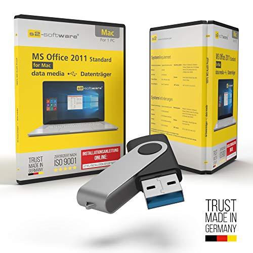 MS Office 2011 Office für Apple Mac - USB Stick - mit Original Lizenz & Lizenzunterlagen inklusive Lizenzrecht und Produkt-Lizenzschlüssel – Unbegrenzte Laufzeit für Ihr MacBook, iMac