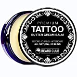 Bálsamo Premium Crema de Manteca Para el Cuidado de Los Tatuajes | Cuidado Natural Para Antes,...