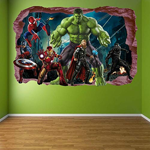 HUAXUE Wall Sticker Mural Decal Spider Iron