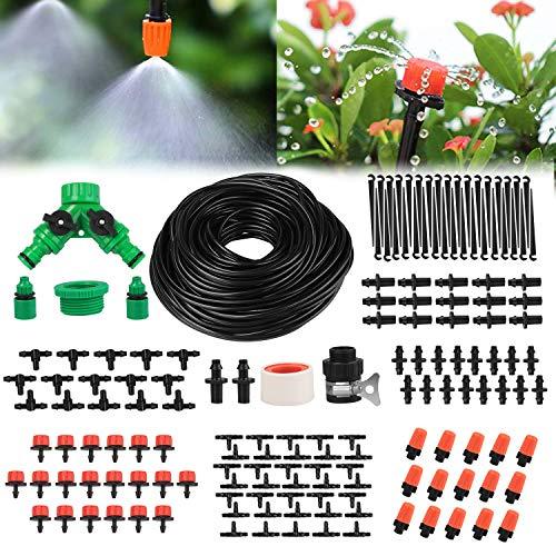 Yikaich Micro Drip Irrigation Kit 40m/131ft Garden Irrigation System...