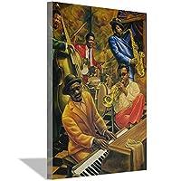 クールジャズアフリカ系アメリカ人ミュージシャンアートプリントポスター30x45cm(12x18inch)フレームレス