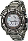 Casio Men's PRO TREK Stainless Steel Japanese-Quartz Watch with Titanium Strap, Silver, 20 (Model: PRW-2500T-7CR)