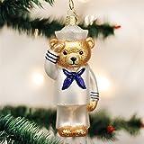 Old World Christmas Glass Navy Bear Military Christmas Ornament