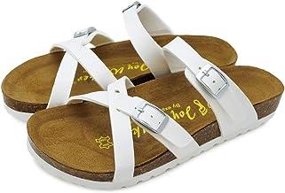 [ジョイウォーカー] サンダル レディース フラット ぺたんこ クロスベルト 歩きやすい ストラップ 夏 コンフォートサンダル 159P