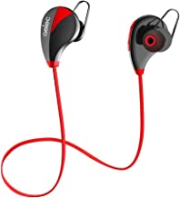 Wireless Earbuds, aelec Bluetooth Headphones in-Ear Sports Earbuds Sweatproof Earphones Noise Cancelling Headsets with Mic for Running Jogging (Red)