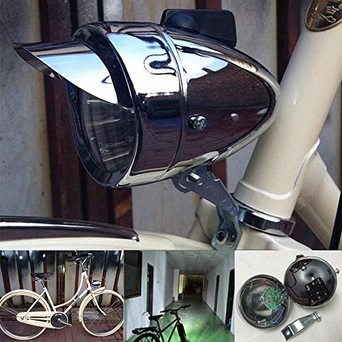 Silver Road City Still Tail Classic Vintage Metal Bicycle light Rear Front