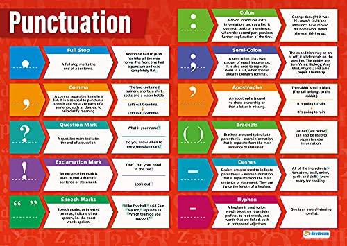 Punctuatie | Engels Posters | Glanzend papier van 850 mm x 594 mm (A1) | Taal Klas Posters | Onderwijs grafieken door…