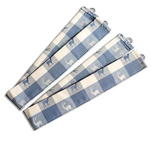 SeGaTeX home fashion Raffhalter Karo 63663570 2er-Set passend zur Dekoschalgarnitur Karo in Blau