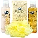 Gloss! Body Luxurious Gold - Cesta de baño, vainilla y tila, 4 piezas