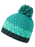 Ziener Damen ISSOGI hat Bommel-mütze/Warm, Gestrickt, Mermaid Green, Usex
