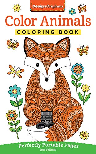 Price comparison product image Color Animals Coloring Book: Perfectly Portable Pages (On-the-Go! Coloring Book) (Design Originals) Extra-Thick High-Quality Perforated Pages in Convenient 5x8 Size Easy to Take Along Everywhere