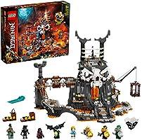 LEGO Ninjago LeSegretedelloStregoneTeschio, Giocattolo da Costruire e Gioco da Tavolo 2in1 con 8 Minifigure, 71722