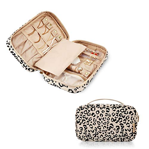MIZATTO Travel Jewelry Organizer Case Portable Jewelry Storage Bag for Necklaces Earrings Rings and Bracelets
