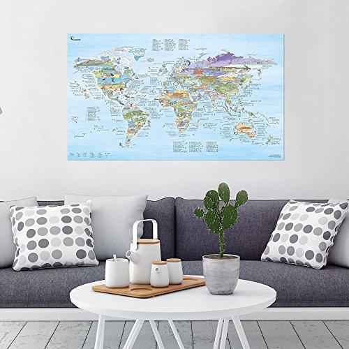 Awesome Maps MAPA KITESURF - WORLDMAP ilustrado