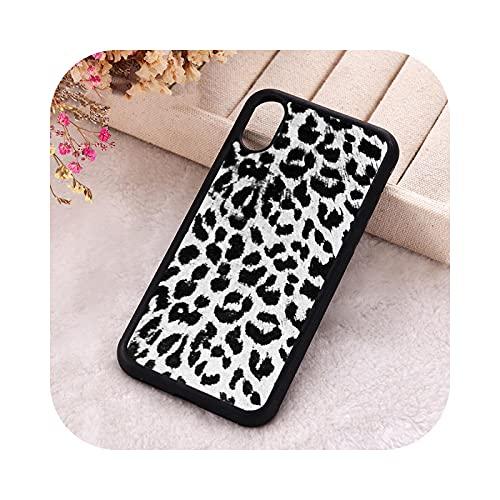 ZaHome 5 5S SE 2020 Funda de teléfono para iPhone 6 6S 7 8 Plus X Xs XR 11 12 Mini Pro Max Silicona Leopardo Estampado Negro Y Blanco - Para iPhone 11 PRO