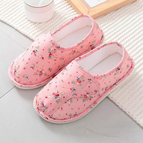 Huisschoenen voor oedeem,Dunne tas met opsluitschoenen, zwangerschaps-pantoffels-39_Pink,Plantar Fasciitis sneakers Air Shoe