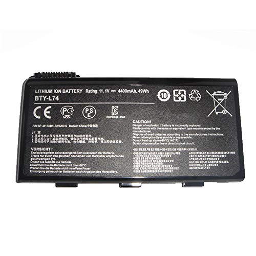 Huiyuan 49Wh 11.1V BTY-L74 BTY-L75 Laptop accessories Compatible for MSI MS-1682 A5000 A6000 A6200 A6203 A7005 A7200 CR500X CR600 CR610