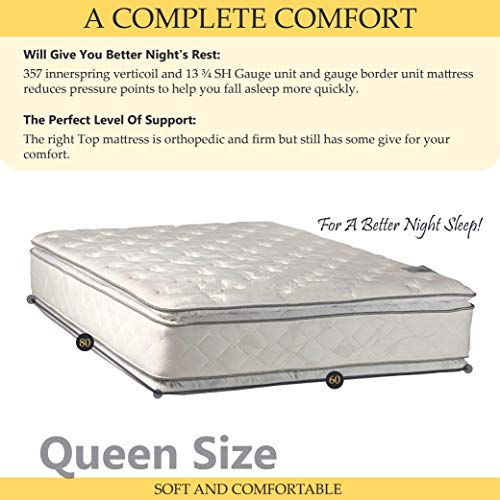 Double sided Pillowtop Innerspring Fully Ass   embled Mattress, Good For The Back, XXL - 84'' x 60''