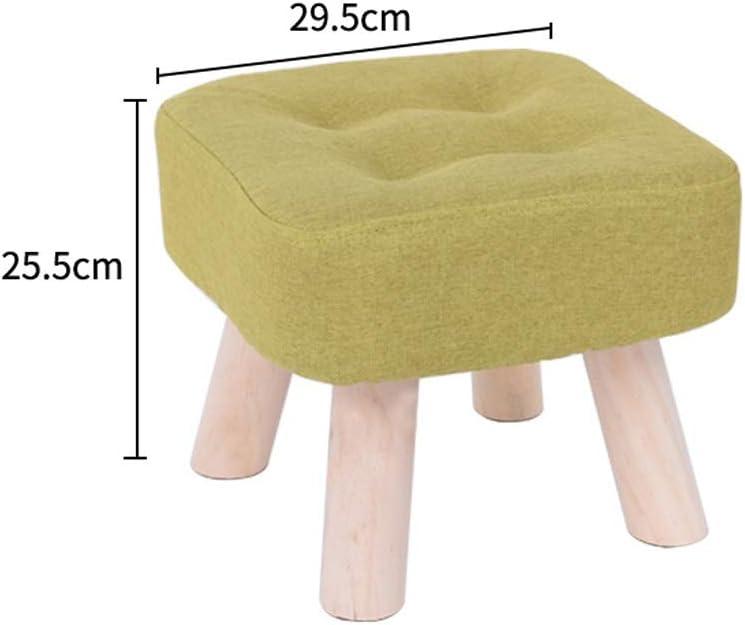 Tabouret en bois massif Mode adulte Salon Pier Salon Sofa Tabouret Tabouret Bas Creative Tissu Petit Banc Accueil CHAISE (Color : L) M